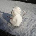 3歳雪遊び
